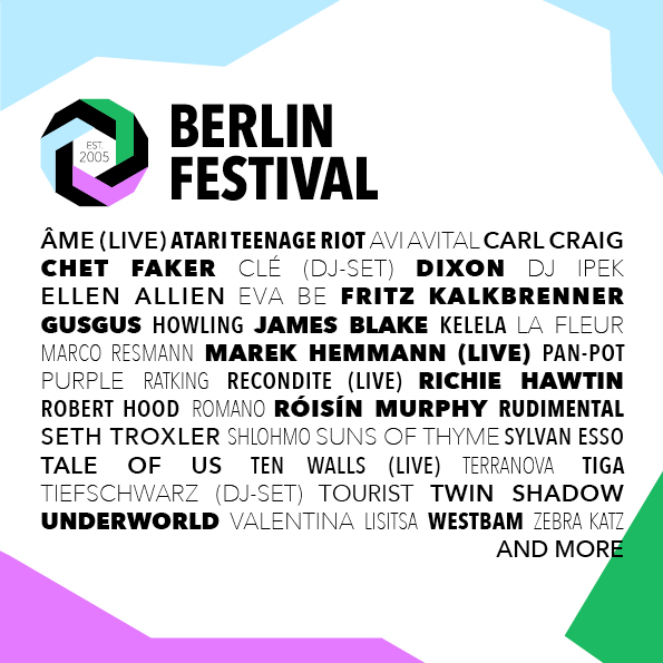 LINE UP BERLIN FESTIVAL